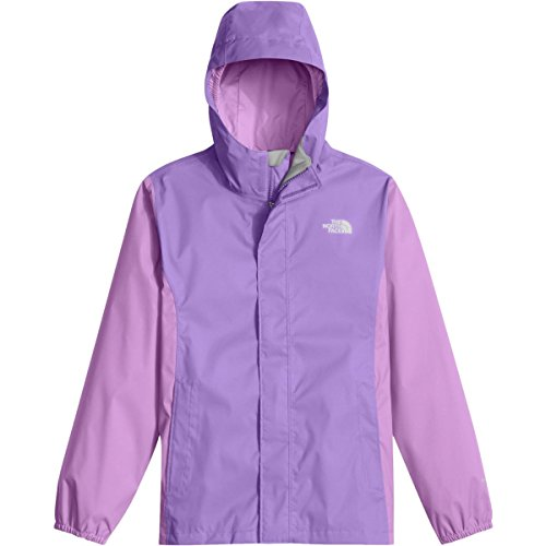 The North Face Girls' Resolve Reflective Jacket (Little Kids/Big Kids) (MD (10-12 Big Kids), Paisley Purple) by The North Face
