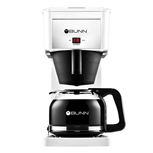 (BUNN GRW Velocity Brew 10-Cup Home Coffee Brewer, White)