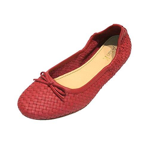 Allan K CAPRI Wicker leather-footwear with Leather sole Ladies De