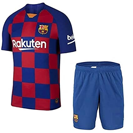 reputable site a0904 8b43b GOLDEN FASHION Barcelona Home KIT Football Jersey with Short 2019-20