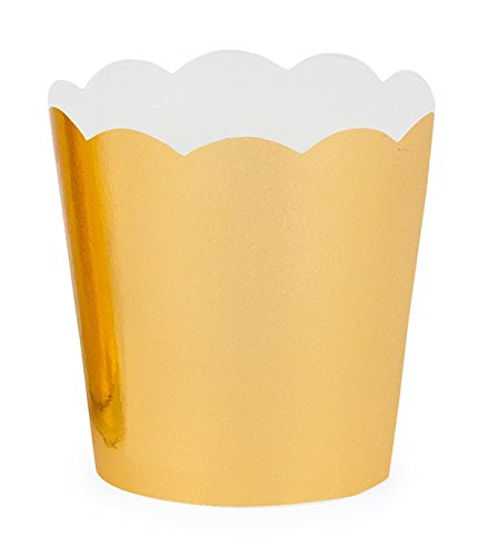 Simply Baked PGC-20C Paper Baking Cup, Petite, Gold Metallic by Simply Baked (Image #2)