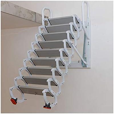 Escalera telescópica de metal para interiores y exteriores, plegable, escalera para montar en la pared, personalizable: Amazon.es: Bricolaje y herramientas