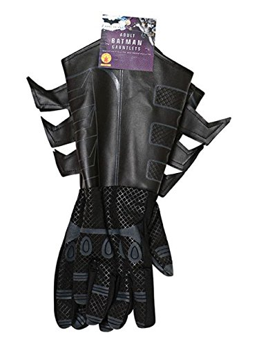 (Batman The Dark Knight Rises Batman Gauntlets Costume, Black, One)