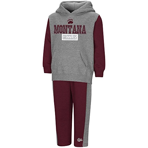 Colosseum Toddler Montana Grizzlies Pull-Over Hoodie and Sweatpants Set - 4T (Grizzlies Sweatpants)