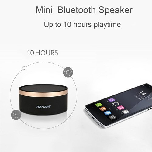 TOMROW-Mini-Portable-Wireless-Bluetooth-Speakers-with-Enhanced-Bass-Stereo-Sound-10-Hour-Playtime-Built-in-Mic-TF-Card-Port-Works-with-iPhone-iPad-TV-Laptop-Echo-Dot-for-Hands-Free-Calls-Black