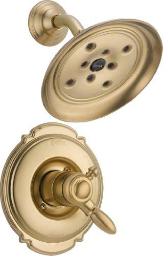 Victorian Champagne Bronze Monitor - Delta Faucet T17255-CZH2O Victorian Monitor 17 Series Shower Trim, Champagne Bronze