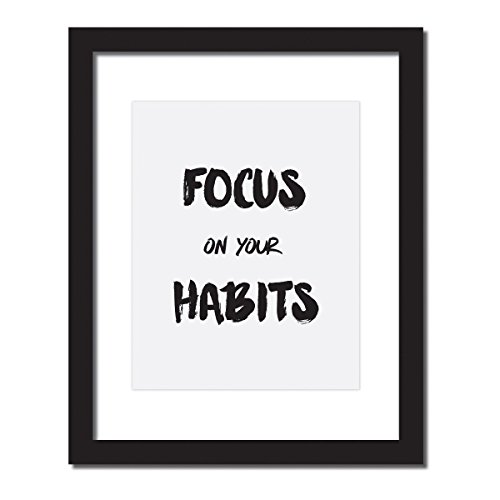 Motivational gym poster, Focus On Your Habits, Inspirational Quote Print . UNFRAMED.