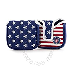 Stars and Stripes Putter Headcover for High-MOI Mallet Putter, Blue Cover Heel Shaft big size High-MOI mallet putters Our unique designed headcovers are made with high quality of material, embroidering and stitching. Ultra thick 3-layers (PU ...