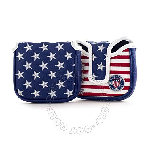 19th Hole Custom Shop Stars and Stripes High MOI Mallet Putter Headcover, Golf Head Cover