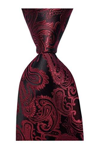 Black Necktie Background (Men's Youth Brick Red Black Silk Tie Graceful Regular Soft Formal Dating Necktie)