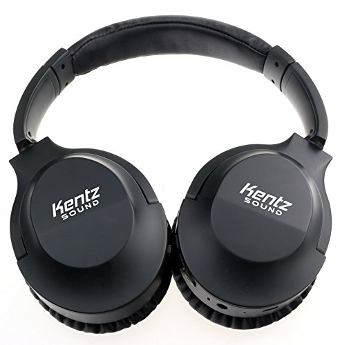 Wireless Bluetooth Headphones ANC by Kentz Sound - Active Noise Cancelling - Over Ear - Earphones for Gaming, Running, TV - Foldable with Microphone - Carrying Case - Cordless - Great for DJ by Kentz Sound