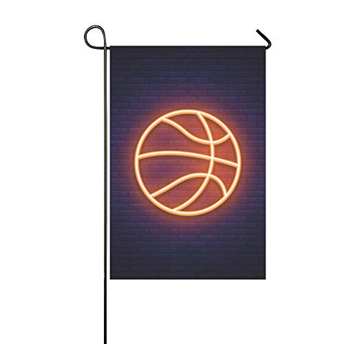 - WIEDLKL Home Decorative Outdoor Double Sided Basketball Neon Icon Design Element Garden Flag House Yard Flag Garden Yard Decorations Seasonal Welcome Outdoor Flag 12x18in Spring Summer Gift
