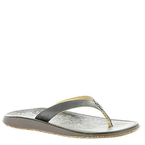 Leather Charcoal charcoal Paniolo Sandal Woman Natural Olukai FO8TI8