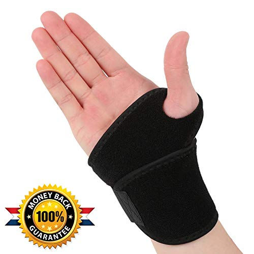 (Wrist Support Brace Compression Strap Help Carpal Tunnel Sprains Wrist Pain Relief Fitness and Weight Lifting - Vonpri)