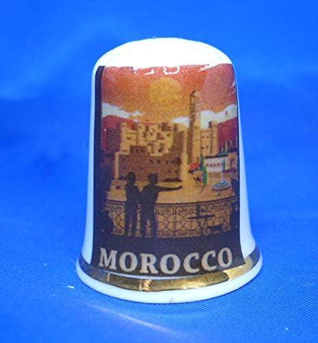 Poster de Voyage Maroc Birchcroft D/é /à Coudre /à Collectionner en Porcelaine Bo/îte Offerte