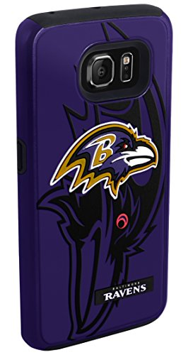 Forever Collectibles - Licensed NFL Cell Phone Case for Samsung Galaxy S6 - Retail Packaging - Baltimore Ravens