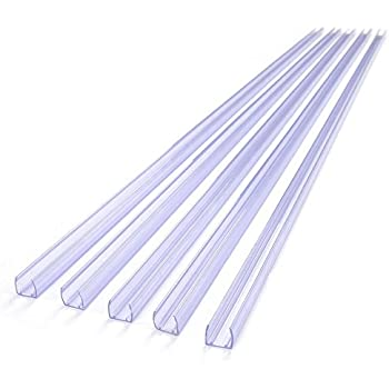 Amazon 1m33ft aluminum channel track for led neon rope delight 5pc 39 38l x 12w clear mozeypictures Image collections
