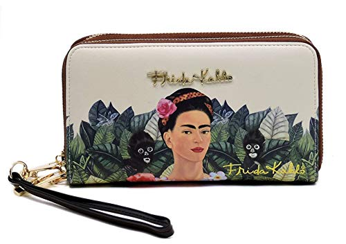 Frida Kahlo Jungle Series Double Zip Wallet / Wristlet