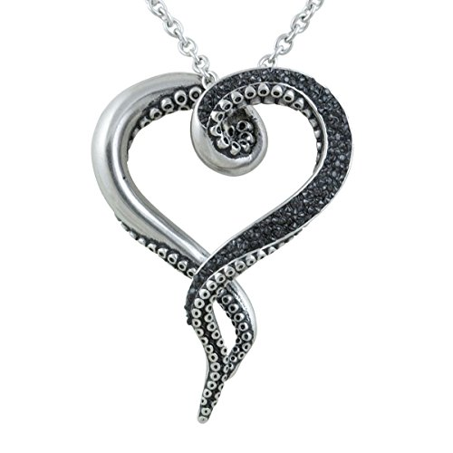 Controse Womens Silver-Toned Stainless Steel Dark and Bright Tentacle Octopus Necklace 31