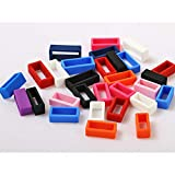 Hemobllo 8 Pcs Watch Band Strap Loops - Rubber