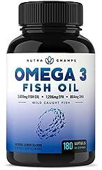 Omega 3 Fish Oil 3600mg, 180 Capsules - ...