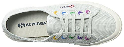 Superga Dames 2750 Multi Color Eyelets Sneaker Alluminum