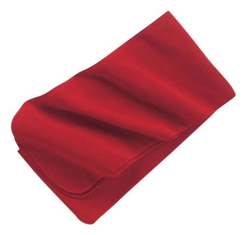 (Port Authority Extra Long Fleece Scarf Red FS03)