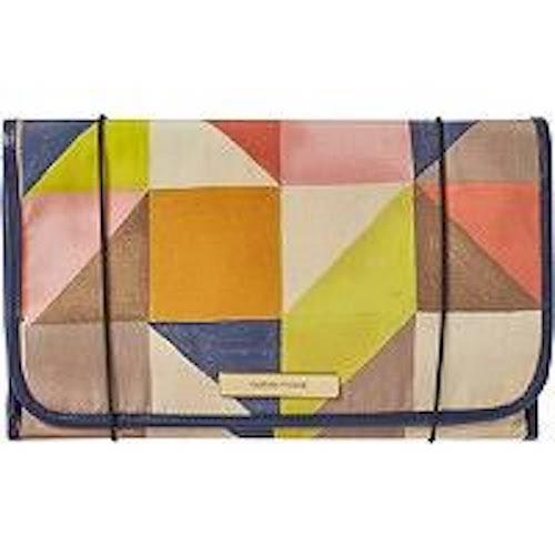 - Trina Tartan + Twine Ellsworth Wane Geo Felt Hanging Valet Travel Cosmetic Bag