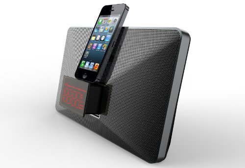 Mutant MIG-IP01 M-Stealth 8-Pin Lightning Speaker Dock with Dual Alarm Clock for Apple iPhone 6, iPhone 6 Plus, iPhone 6S, iPhone 6S Plus, iPhone 5S, iPhone 5C
