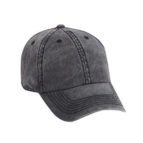 Otto Caps Superior Washed Pigment Dyed Cotton Twill Solid Color Low Profile Pro Style Cap with Velcro (Solid Pigment Dyed Twill Cap)