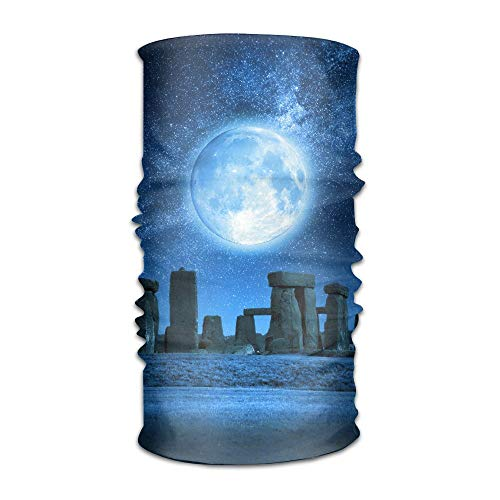Stonehenge Ties - Full Moon Stonehenge Unisex Fashion Quick-drying Microfiber Headdress Outdoor Magic Scarf Neck Neck Scarf Hooded Scarf Super Soft Handle