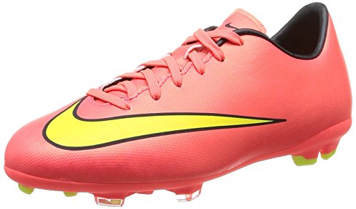 Nike Kids Jr Mercurial Vittoria V Fg Cleat Calcio Punch / Nero / Volt / Moneta Doro Metallizzata