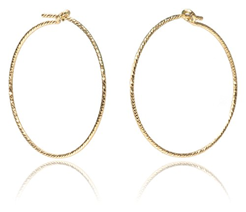 14K Gold Fill Sparkle Wire Beading Hoop 20mm Qty=4 ()