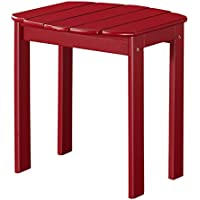 Linon Adirondack End Table, Red