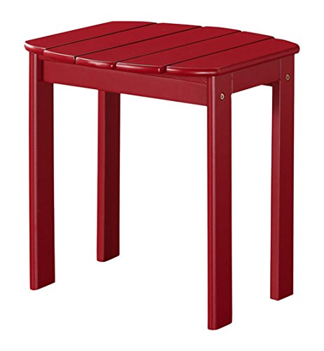 Linon Adirondack End Table, Red - Red Adirondack End Table