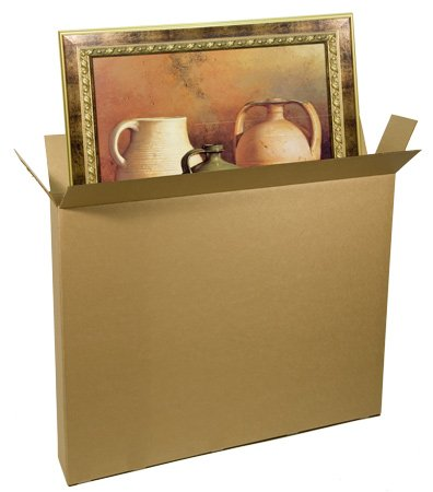 EcoBox 52 x 8 x 60 Inches Corrugated Shipping/Moving Box Carton for Art Picture and Mirror (E2650) -