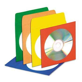 Innovera® CD/DVD Envelopes ENVELOPE, CD 50PK, ASSTD IVR83400Y (Pack ()