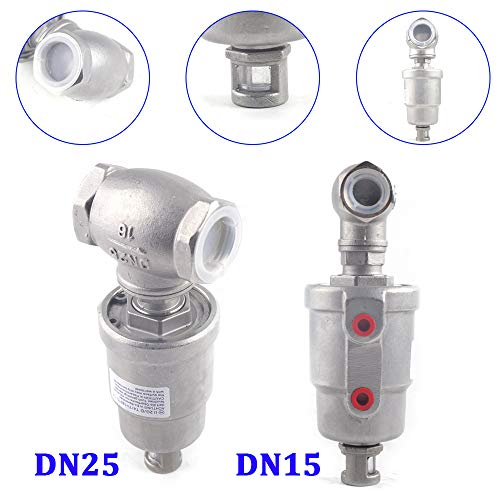 T Type Pneumatic Actuated Angle Seat Valve Steam Water Dryer Valve Double Acting Mode PTFE Sealed (DN25(3288))