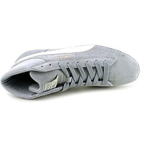 Sneakers Medie In Pelle Scamosciata Con Puma - Cava - Marshmallow