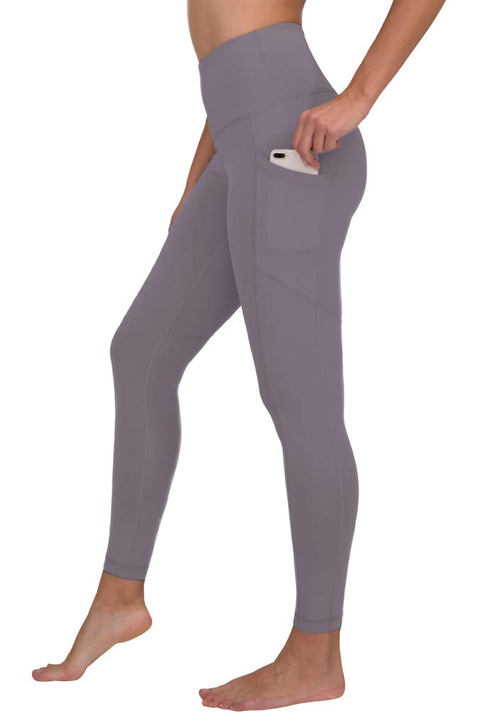 90 Degree By Reflex Women's Power Flex Yoga Pants - Quicksilver - Large by 90 Degree By Reflex
