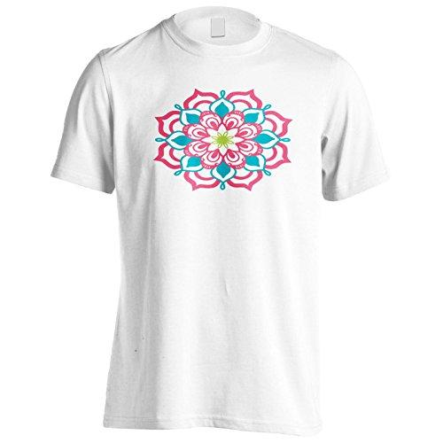 Mandala Neu Blau Herren T-Shirt n327m
