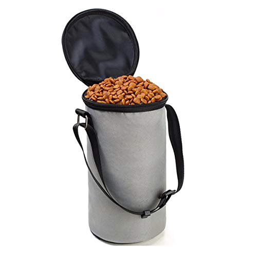 BeesClover Dog Dry Food Bag Storage Container Pet Training Food Carrier Grey Green F
