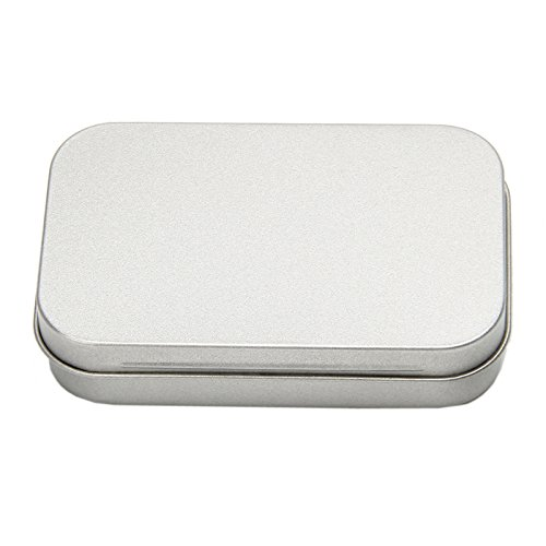 Tangc Small Metal Tin Silver Flip Storage Box Case Organizer For Money Coin Candy Key by Tangc (Image #9)