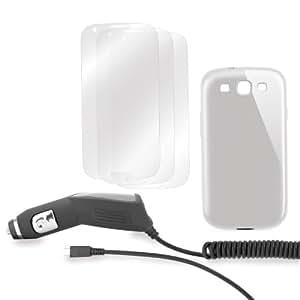 Xqisit 12550 - Pack de accesorios (carcasa y protector de pantalla) para Samsung Galaxy S3