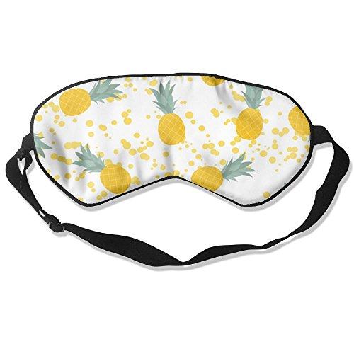 ZHYPMNU Sleep Mask Pineapple Natural Seamless Pattern Adjustable