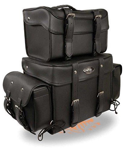 Bar Travel Sissy Bag - MOTORCYCLE MOTORBIKE BLACK SISSY T BAR 4 PIECE TRAVEL BAG BAR LUGGAGE BLACK NEW