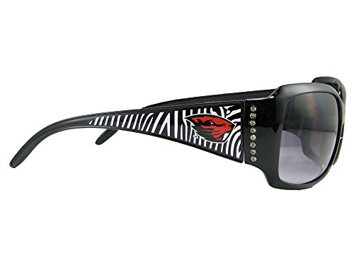 Oregon Store Beavers State - Sports Accessory Store Oregon State Beavers OSU Black Zebra Print Clear Crystals Womens Fashion Style Sunglasses S4ZB
