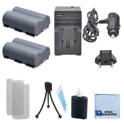 (2 BP-511 High-Capacity Battery + Car/Home Charger For Canon FV100, FV200, FV30, FV300 KIT, FV300, FV40 KIT, FV40, FVM1, FVM10, IXY DVM, MV100Xi & More. Cameras + Complete Starter Kit)