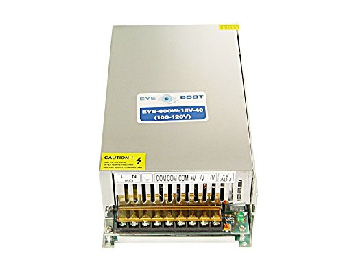 - Eyeboot 15V 40A DC Universal Regulated Switching Power Supply 600w