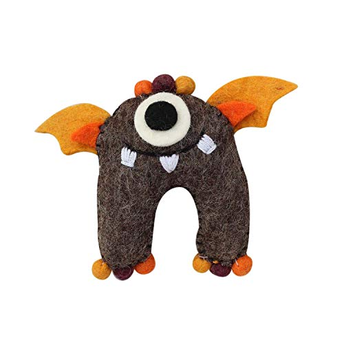 Felt Tooth Fairy Monster Pillow with Pouch - Handmade in Nepal ()